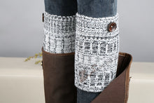 Load image into Gallery viewer, Boot cuff thick short-sleeved thick thick bamboo knit wool yarn socks - 11