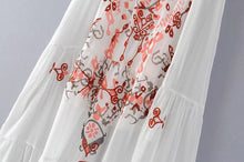 Load image into Gallery viewer, New Spaghetti Strap Embroidered Maxi Dress