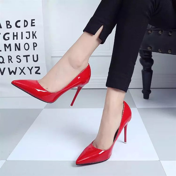 264762255 Women Shoes High Heels Women Pumps Heels Shoes Pumps Sexy Pointed Toe High  Heels Red Wedding ...