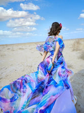 Load image into Gallery viewer, Hot beach chiffon dress sleeveless bohemia full dress holiday maxi dress