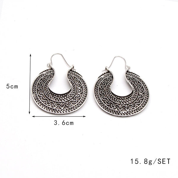 5 patterns Bohemia Wild Vintage pierced earrings
