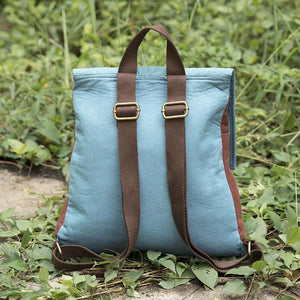 Printing Casual Women Blue Backpack