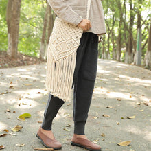 Load image into Gallery viewer, Delicate Knitted White Tassel Zipper Shoulder Bag For Women