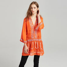 Load image into Gallery viewer, 2018 New embroidery Bohemia Mini Dress