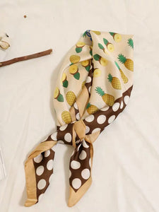 Chic Pineapple Pattern Small Square Scarf
