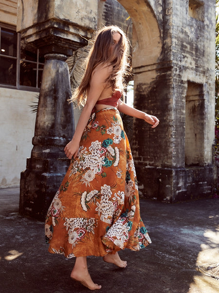 Bohemian Printed Casual Swing Skirt