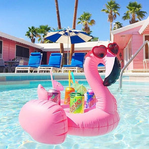 Flamingos Inflatable Floating with 4 cups holder Swimming Toy