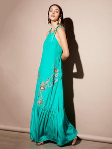Emboridered Halter-neck Bohemia Dress