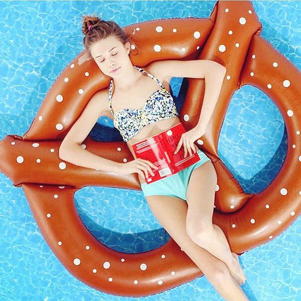 Inflatable bagel floating row adult horse unicorn swim ring beach style beach fashion
