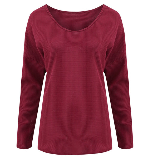 Women Sweater Casual Long Sleeve Jumper V-Neck Blouse Pullovers Loose Solid Tops Autumn Winter Pull Femme Nouveaute