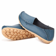 Load image into Gallery viewer, Big Size Pure Color Slip On Lace Up Soft Sole Comfortable Flat Loafers