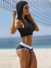 Load image into Gallery viewer, U-neck Bare Midriff Sports Bras