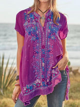 Load image into Gallery viewer, Summer Cotton Popular Style Embroidered Loose Shirt