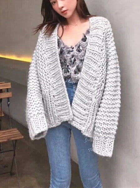 Woman Sweater Casual Knitwear Cardigan Outwear Women Knitted Sweater Jumper Coat