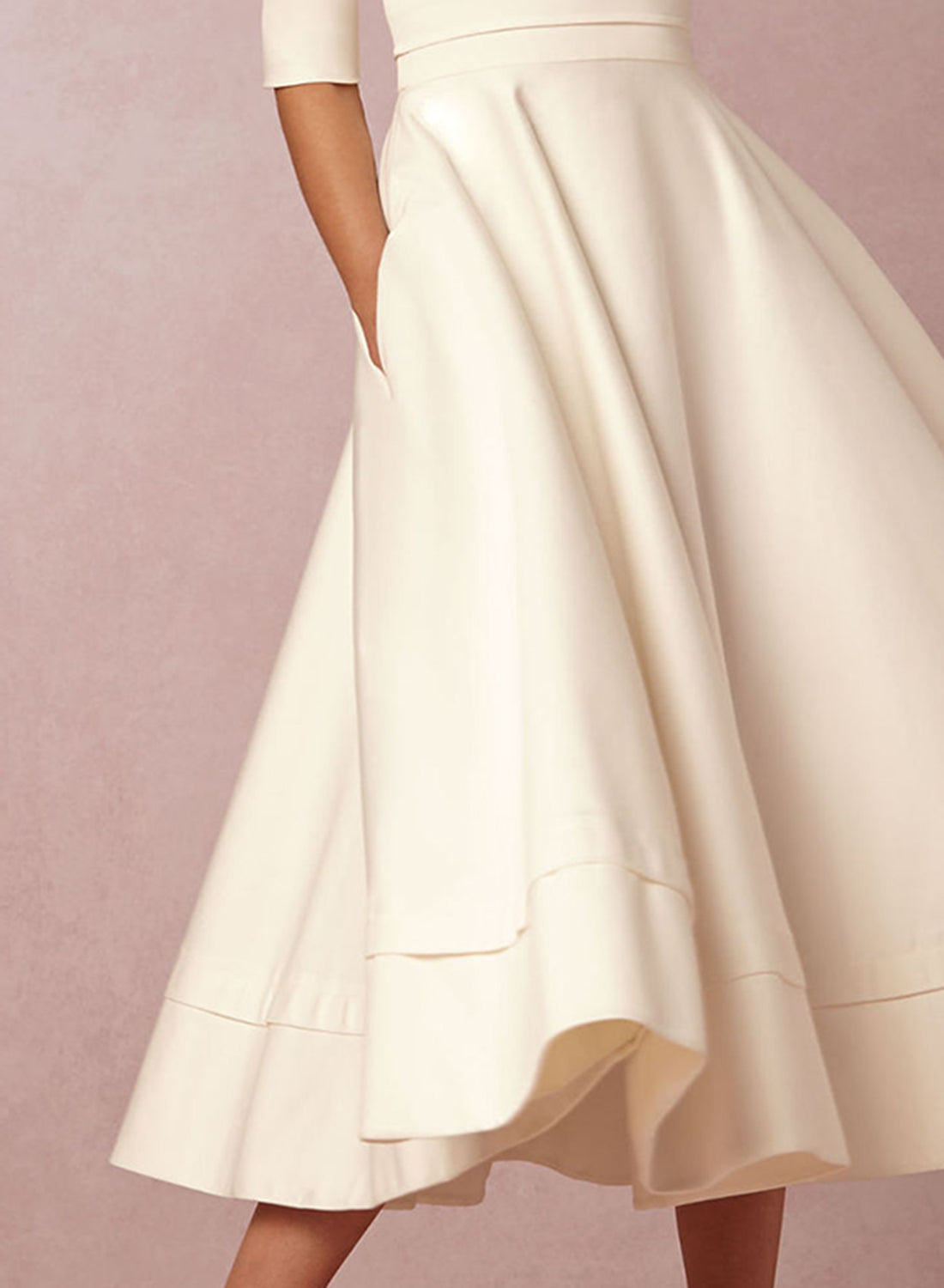 a73a2e3b81 ... Load image into Gallery viewer, A-Line V Neck Half Sleeve Midi Party  Dress ...
