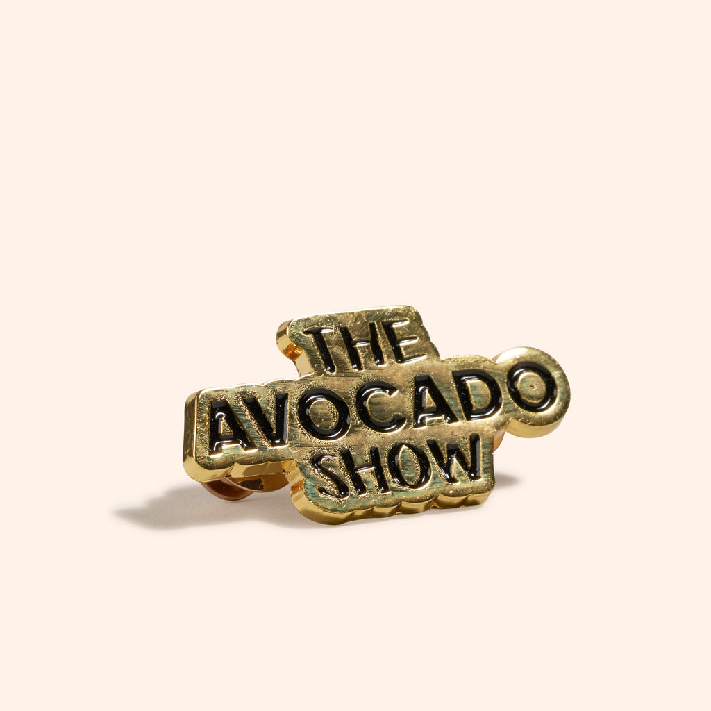 The Avocado Show Logo Pin