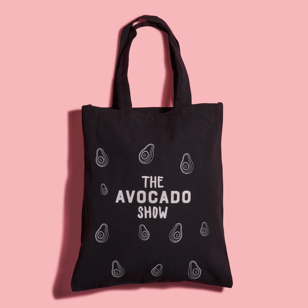 Black Avocado Show Canvas Tote Bag