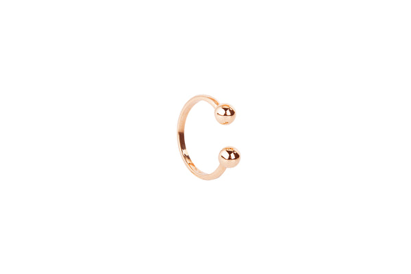 Piercing Ring pink gold