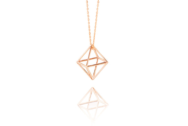 3D Special Necklace Pink Gold