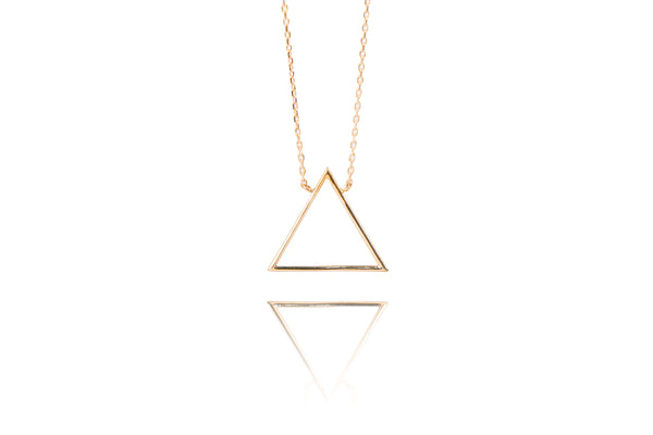 Triangle Necklace Yellow Gold