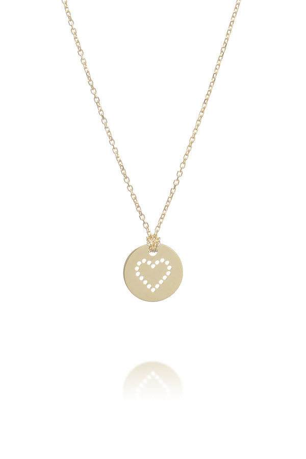 Hole love necklace 9kt