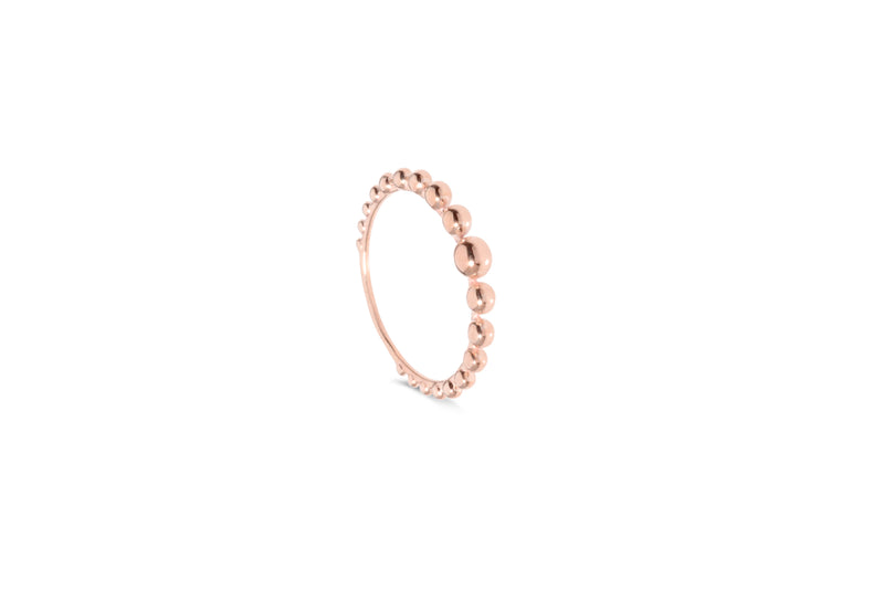 Bubble ring pink gold