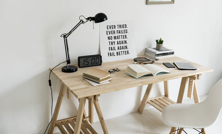 workspace-wooden-table-lamp-book-stationery collection - artatler marketplace - 1024x620