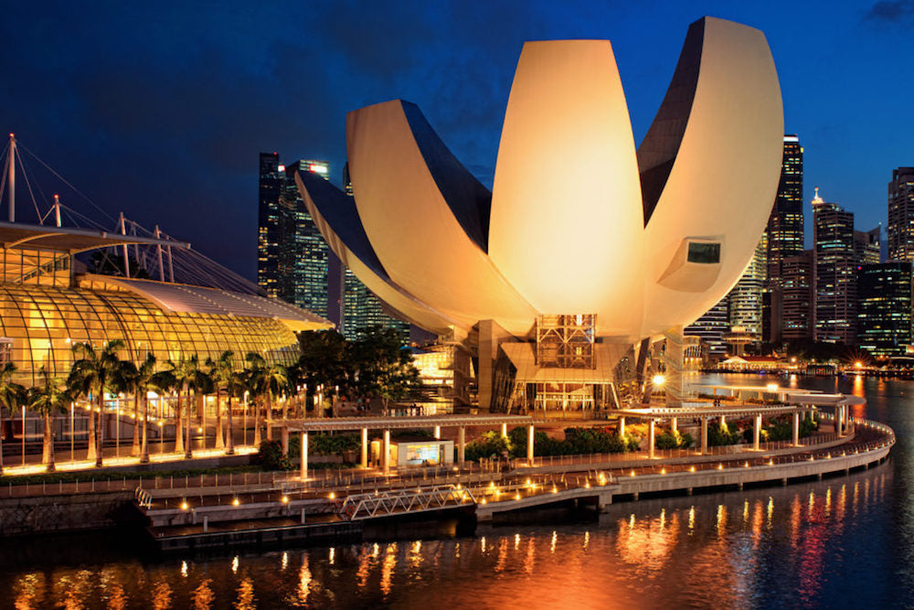 Art Science Museum at Night Get Your Art Fix in Singapore Photo by Hotel Indigo Artatler.com