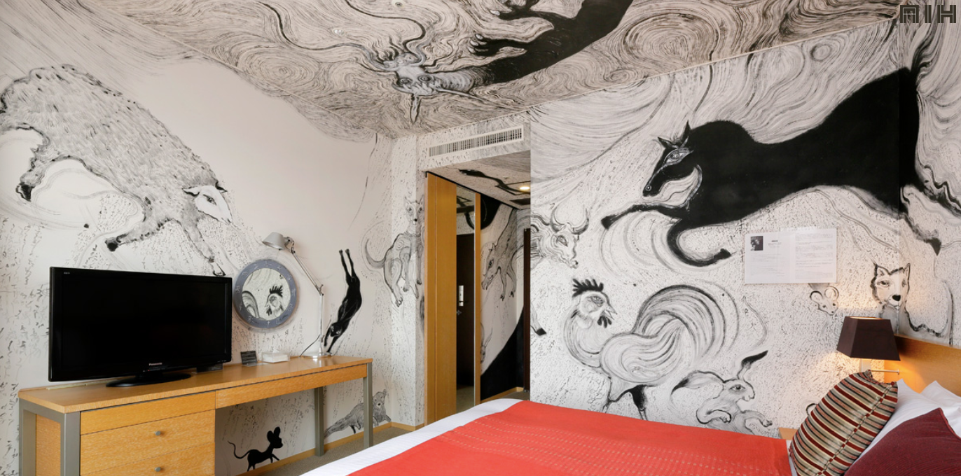 Artist Room Zodiac Ryosuke Yasumoto 2014 Mural Art Hotel in Japan SENIIKU Marketplace