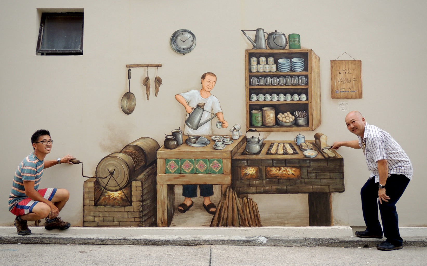 Coffee Story Mural at 29 Sultan Gate Yip Yew Chong Mural Artist SENIIKU Marketplace