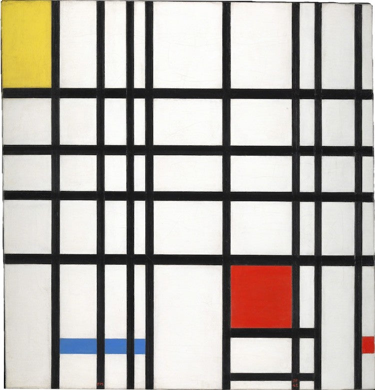 Composition-with-yellow-blue-and-red-Piet-Mondrian-De-Stijl-What-is-modern-art-top-20-Blogs-SENIIKU-Market