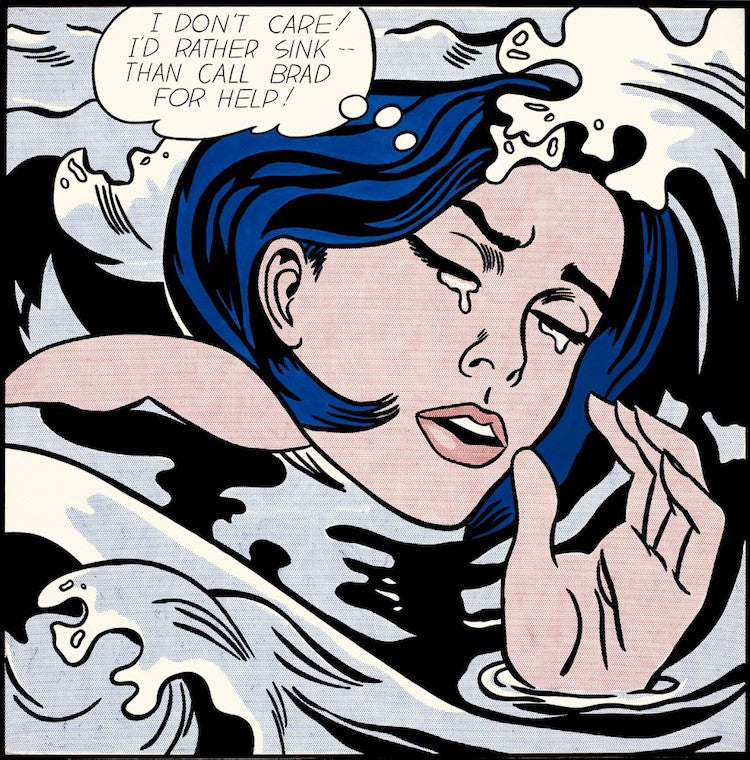 Drowning-Girl-Roy-Lichtenstein-Postmodern-What-is-modern-art-top-20-Blogs-SENIIKU-Market