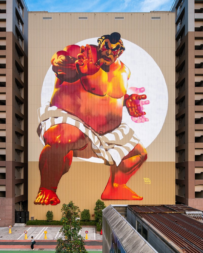 Edmonda Honda Street Fighter Largest Japanese Mural Case Maclaim SENIIKU Marketplace