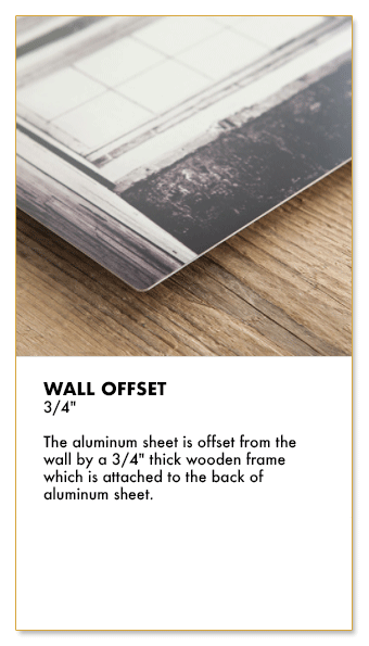 Showcase your artworks on metal - Wall offset system - Sell online with Artatler International Gallery