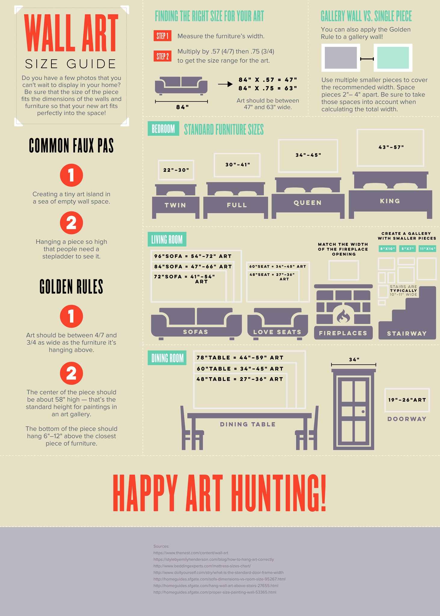 wall art size guide for your home infographic journal artatler online gallery