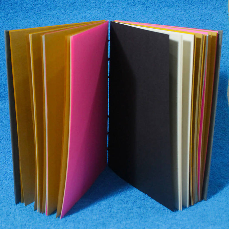Terracotta-Blank Colored Coptic Stitch Notebook