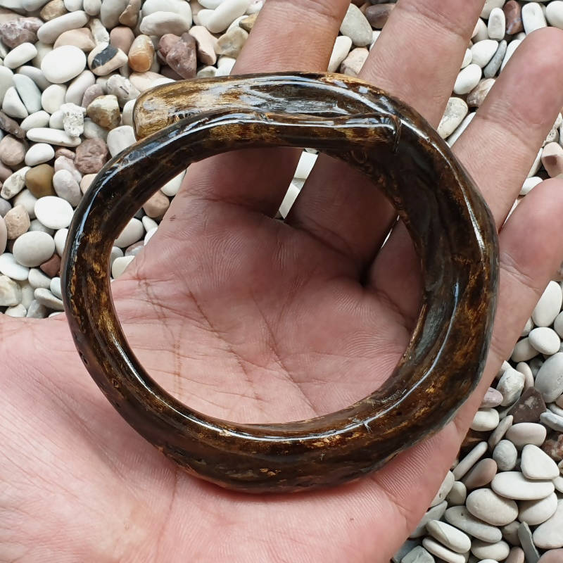 Magnificent Brown Akar Bahar Bangle Genuine Indonesian Coral Circlet
