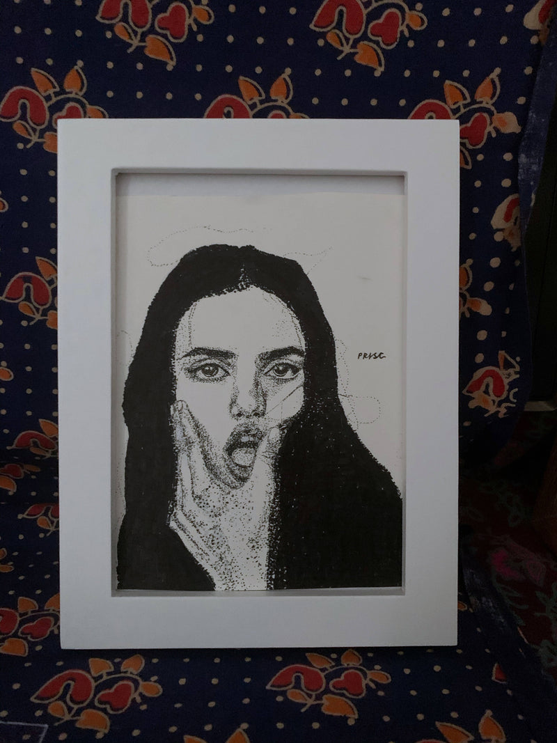 Girl - Dot work