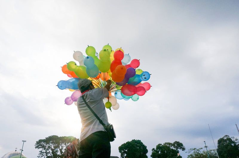 A Man With His Balloons