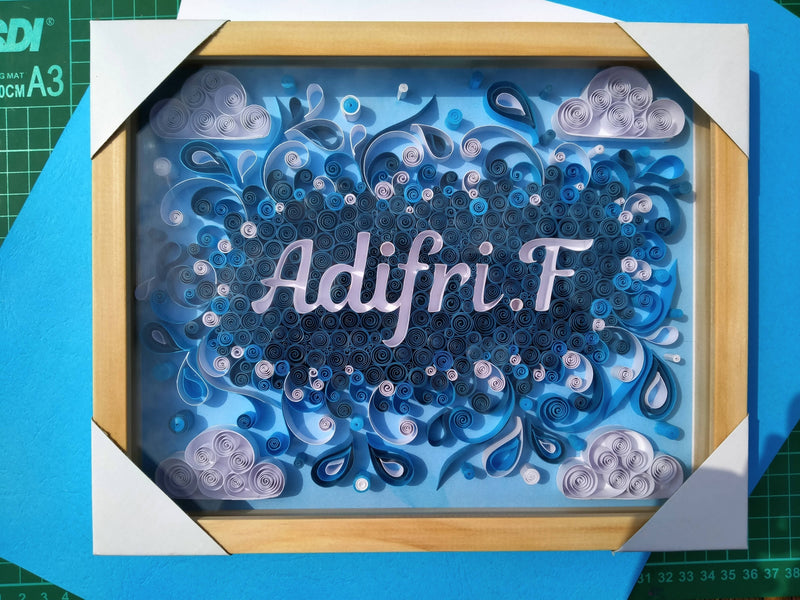 Quilling Paper Art Typography