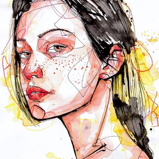 Watercolor Portrait Illustration