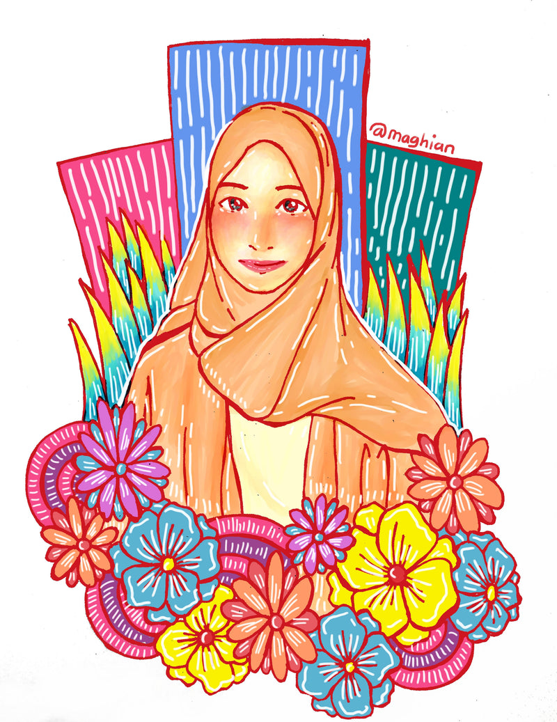 Colorful Single Portrait Illustration