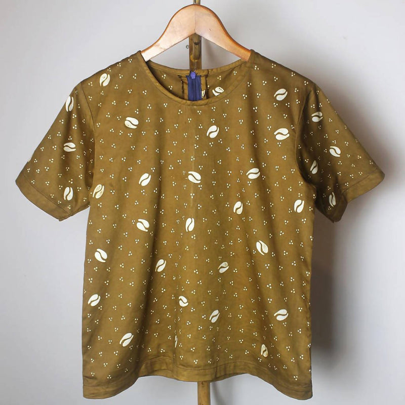 Blouse Batik - Coffee bean pattern