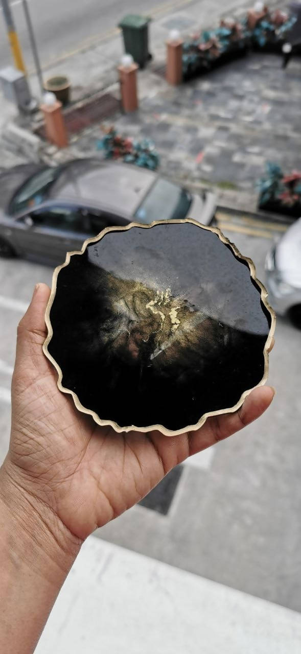 Black Geode inspired Coasters