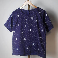 Women's Casual Short Sleeve - Coffee bean pattern.