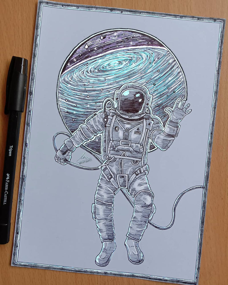 Creative Drawing Services - Astronot Ilustrasi