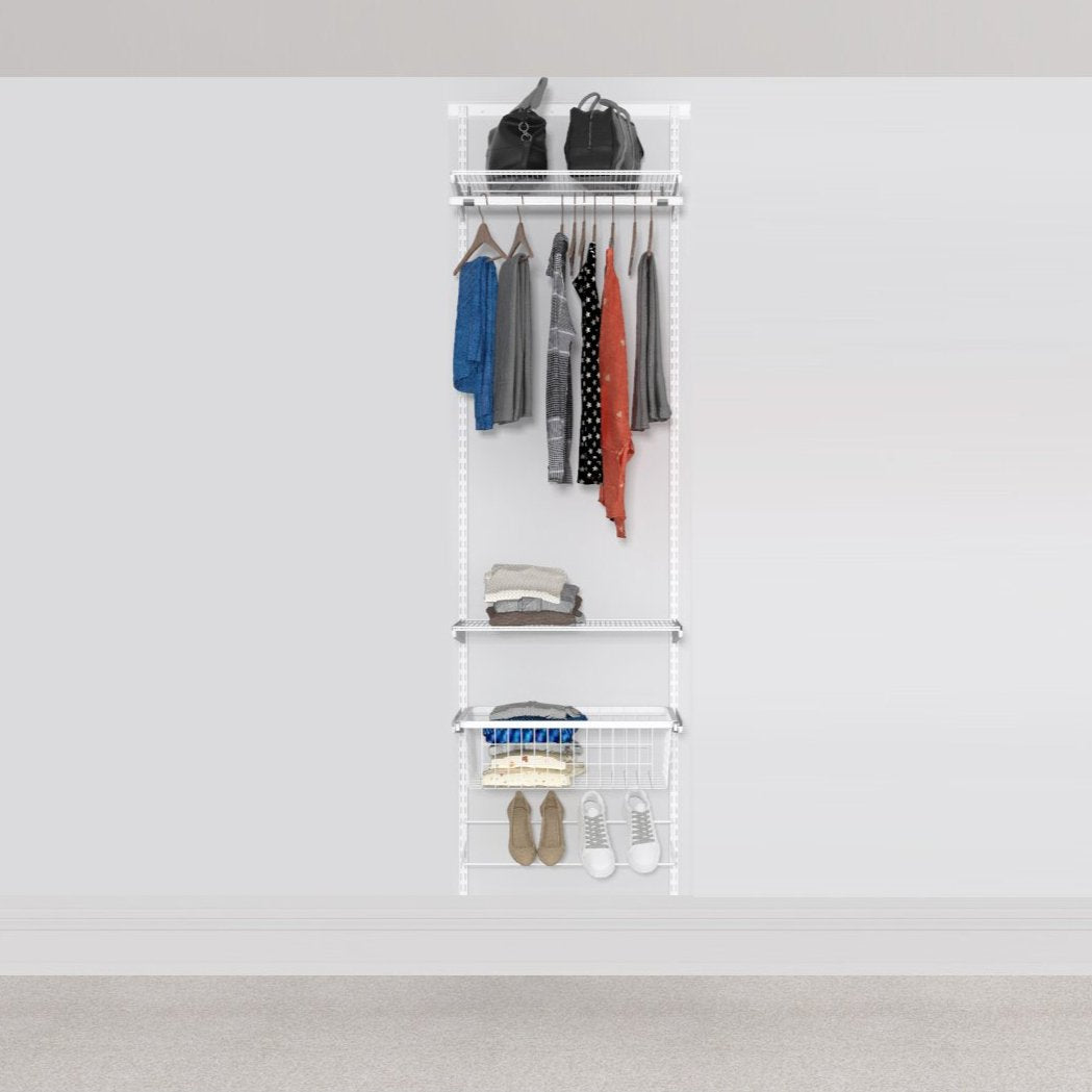 Open Wardrobe System with Shoe Storage 63cm (W) Static Shoe Shelf