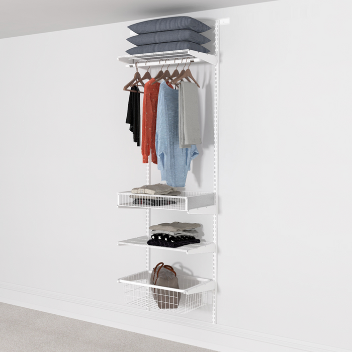 63cm Wide Open Wardrobe System with Basket