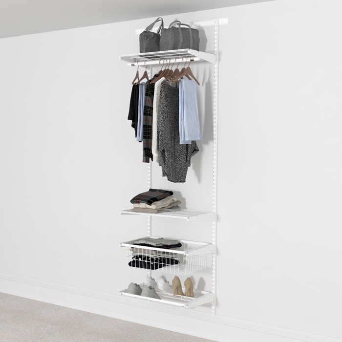 Open Wardrobe System with Shoe Storage 63cm (W) with Pull Out Shoe Rack