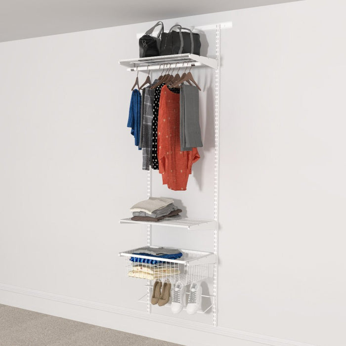 Open Wardrobe System with Shoe Storage 63cm (W) Wire Shoe Shelf